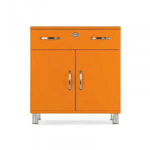 Comoda Malibu, MDF, portocaliu, 92 x 86 x 41 cm