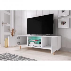 "Comoda TV 60 "" Desert Palms, alb mat, 140 x 45 cm"
