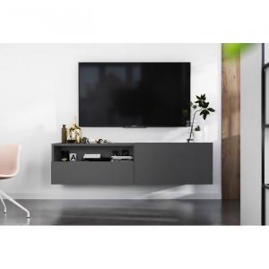 Comoda TV Aljosha, Gri, 120 x 46 x 35 cm