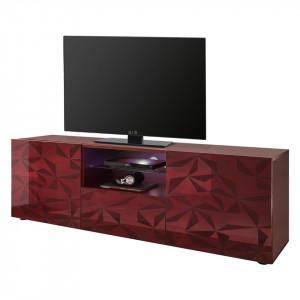 Comoda TV Prisma PAL, rosu, 181 x 57 x 42 cm