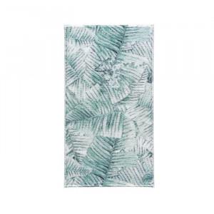Covor de baie Suzanne, verde/alb/gri, 80 x 140 cm