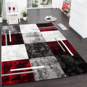 Covor Kaya, gri/negru/rosu, 80 x 150 cm