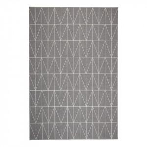 Covor Kiel fibra sintetica, gri, 160 x 230 cm