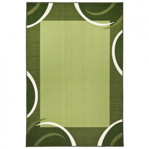 Covor Loures by Theko, grămadă scurtă, cu chenar, verde, 290 x 390 cm