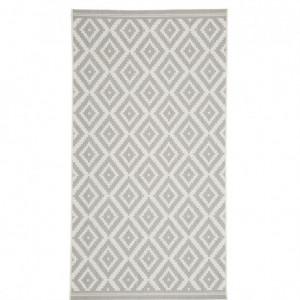 Covor Miami, alb/gri, 80 x 150 cm