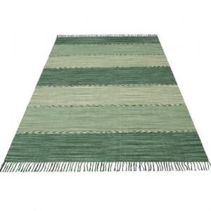 Covor Nabil Home Affaire, verde, cu franjuri, 80 x 150 cm