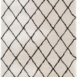 Covor Naima, poliester/bumbac, bej/negru, 300 x 400 cm