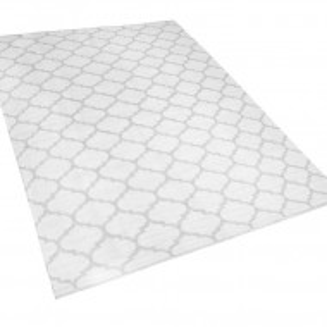 Covor reversibil Aksu, alb/gri, 160 x 230 cm