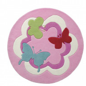 Covor rotund Butterfly, diametru 100 cm