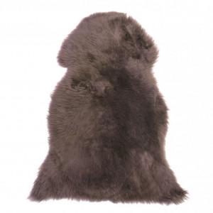 Covor ULURU, piele, maro, 65 x 110 cm