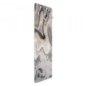 Cuier de perete, gri, 139 x 46 x 1,6 cm