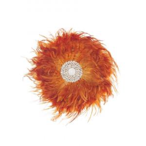 Decor de perete din pene Juju, portocaliu, 40 x 4 x 40 cm