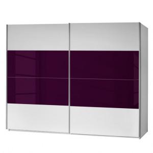Dressing Quadra alb violet 136 x 230 x 62 cm