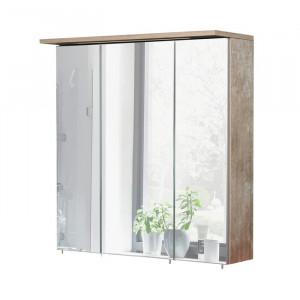 Dulap cu oglinda Renteria, iluminat, lemn, 72,5 x 70,5 x 16 cm