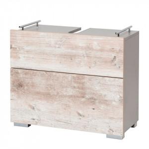 Dulapior pentru chiuveta Benni PAL/metal/stejar, gri/lemn, 67 x 60 x 31,6 cm