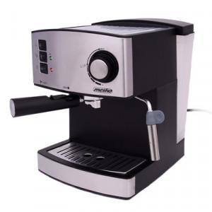 Espressor Mesko MS 4403, 850W, 15 bar, 1.6l, Argintiu/Inox