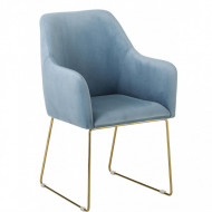 Fotoliu Isla, catifea, albastru, 58 x 62 x 91 cm
