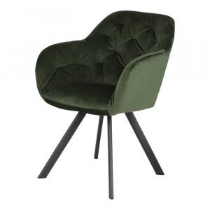 Fotoliu, metal/textil, verde, 81,5 x 57,5 x 61,5 cm