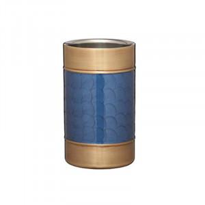Frapiera pentru vin Barcraft cu perete dublu, albastru / auriu