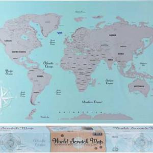 Harta lumii razuibila Karll, 88 x 52 cm