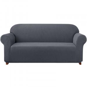 Husa pentru canapea cu elastic, gri, 180 x 107 cm