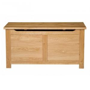 Lada pentru depozitare, lemn de stejar, maro, 51 x 100 x 46 cm