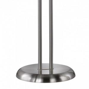 Lampadar LED Nickel metal, argintiu, 2 becuri, 230 V, 310 lm