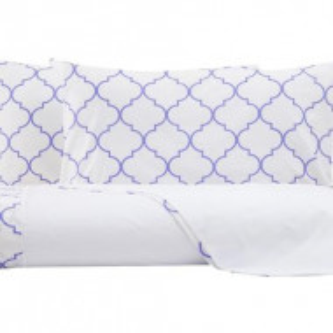 Lenjerie de pat Aramis alb / violet
