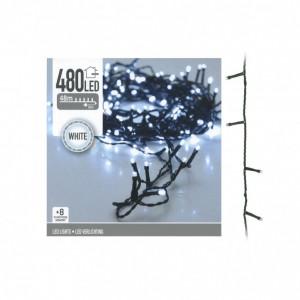 Luminite Craciun, cablu 480 LED, alb rece + 8 funcții