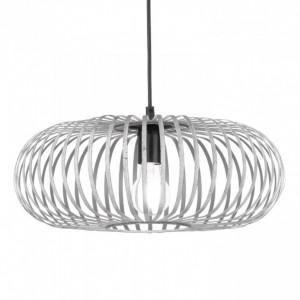 Lustra tip pendul LED Johann metal nichelat, 1 bec, argintiu, diametru 40 cm, 230 V