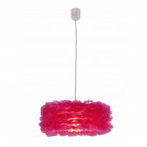 Lustra tip pendul Marty, plastic, roz, 40 x 21 cm, 60w