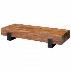 Masa de cafea Dejong, lemn masiv/ metal, 22 x 115 x 44 cm