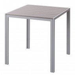 Masa de gradina Kudo II aluminiu/plastic, gri, 69,2 x 71,8 x 69,2 cm