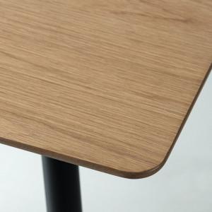 Masa Kimberley MDF/metal/stejar, maro/negru, 120 x 75 x 80 cm