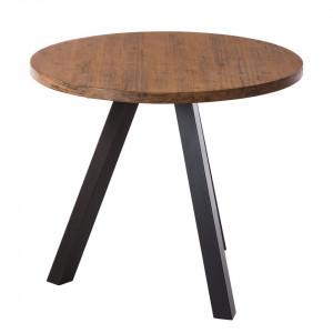 Masa rotunda Manchester I - diametru 90cm - lemn masiv/metal