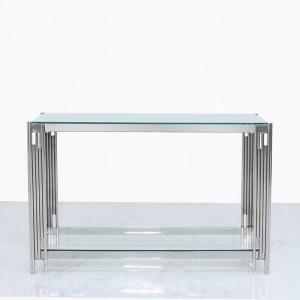 Masa tip consola, metal/sticla, 78 x 120 x 40 cm