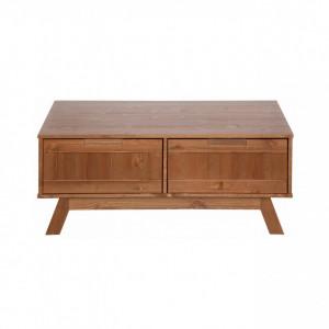 Masuta de cafea Ohio, lemn masiv de pin, maro, 100x70x40 cm
