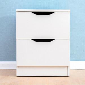 Noptiera Tadashi cu 2 sertare, alb, 50 x 40cm