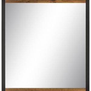 Oglinda Chris, MDF/sticla, maro, 60 x 2.5 x 68 cm