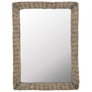 Oglinda Leon, ratan, maro, 80 x 60 cm