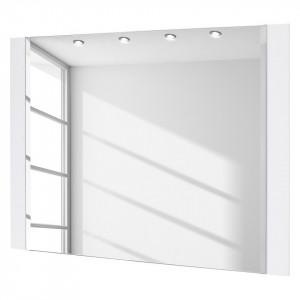 Oglinda Namona sticla/MDF, alb, 90 x 68 x 2 cm