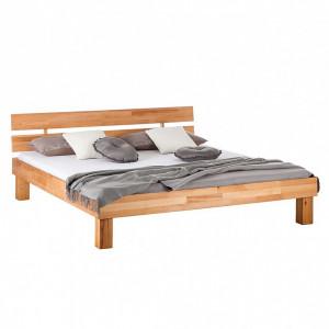 Pat din lemn masiv AresWOOD, 180 x 200 cm