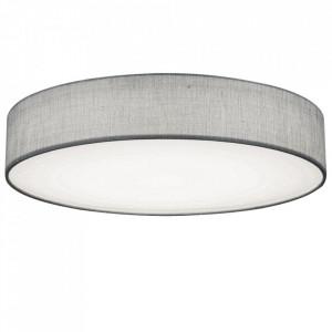 Plafoniera Paco, LED, metal/plastic, gri, 12 x 60 cm, 60w