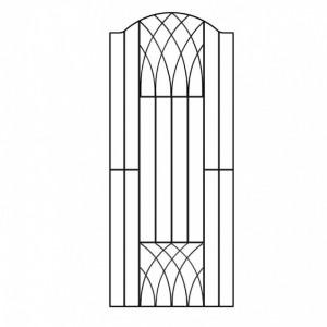 Poarta pentru gradina Guero Verona din metal 92cm X 180cm
