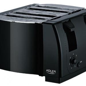 Prajitor de paine Adler AD 3211, 4 felii, 1300 W, negru