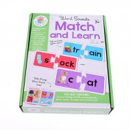 Puzzle educativ Word Sounds Match and Learn