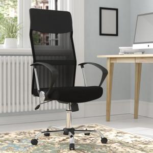 Scaun de birou din plasă cu spate înalt