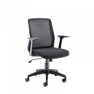 Scaun de birou din plasa, negru, 60 x 95 cm