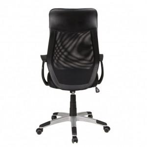 Scaun de birou Niko piele sintetica/nailon, negru, 65 x 123 x 65 cm