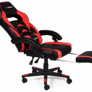 Scaun de gaming GTFORCE Turbo Reclining Sports Racing Gaming Office Desk PC CAR Piele sintetica  (Red)